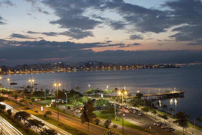 Avenida Beira-Mar em Florianópolis
