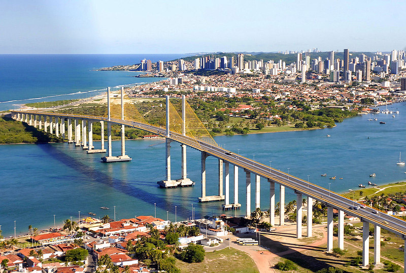 Ponte Newton Navarro está localizada em Natal, capital do Rio Grande do Norte.