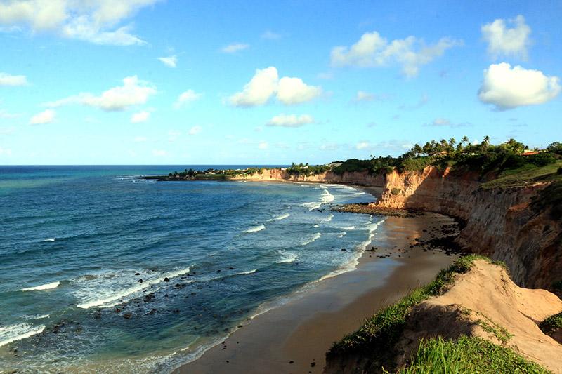 Praia da Barra de Tabatinga, em Natal.