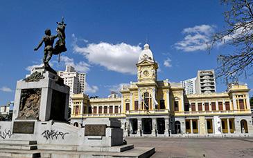Praça da Estação em Belo Horizonte.