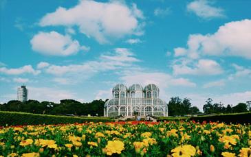 Vista do Jardim Botânico em Curitiba